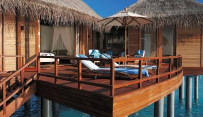 Anantara dhigu resort caba as sobre el agua en las maldivas for Cabanas en el agua bali