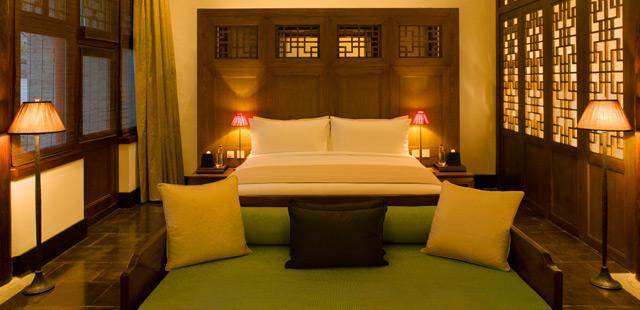 Dormir en una casa china en el aman at summer palace for Decoracion china para casas
