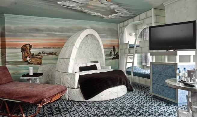 habitaciones tem ticas en el hotel fantasyland de canad