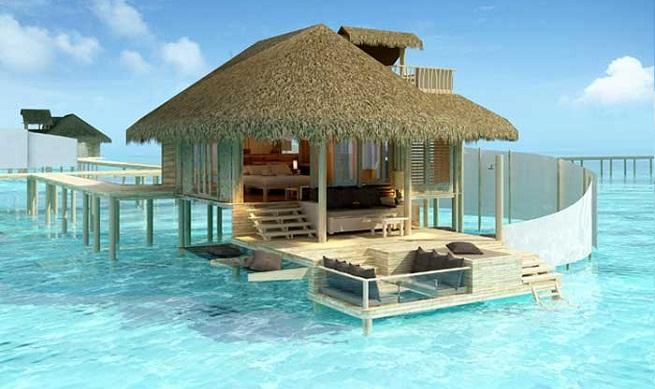 Six senses laamu otro resort de lujo en las maldivas for Islas maldivas hoteles en el agua