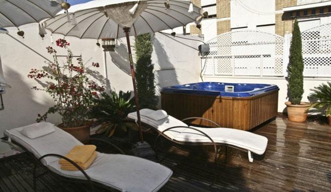 El hotel m s rom ntico de sevilla - Jacuzzi en terraza ...