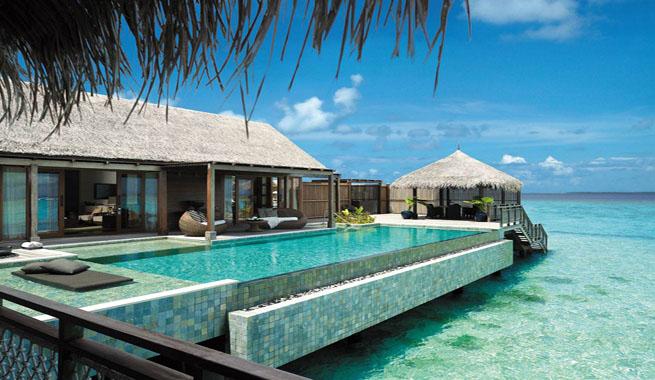 Hotel de lujo para la luna de miel for Los mejores hoteles de maldivas