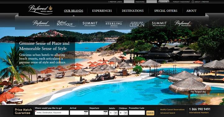 web de un hotel